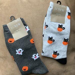 J. Crew Factory 2 Pair Halloween 👻 Sock Bundle